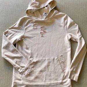 Topman distressed hoodie lightweight sweatshirt XS